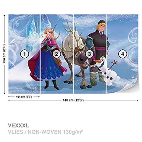 Disney Frozen Anna Sven Olaf Kristoff Wall Mural Photo Wallpaper Room Décor (827WS) (Olaf Wall Mural)