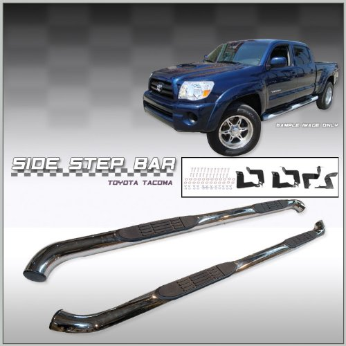 Bars In Tacoma >> Toyota Tacoma Double Cab Side Step Nerf Bars Stainless Steel Fits 2005 2006 2007 2008 2009 2010 2011 2012 2013 2014 And 2015 Tacoma Double