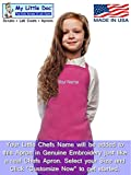 My Little Doc Personalized Hot Pink Kids Apron, Poly/Cotton Twill Fabric
