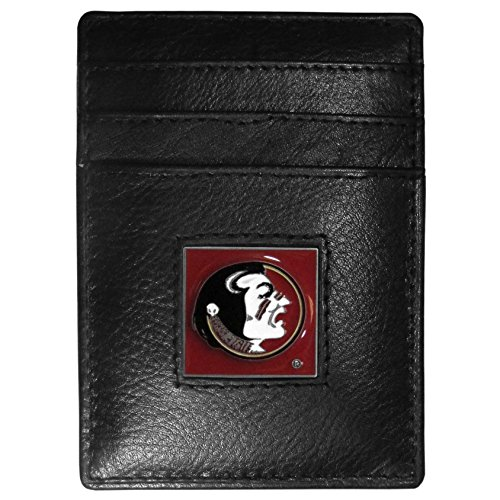 Florida State Credit Card (NCAA Florida State Seminoles Leather Money Clip/Cardholder Wallet)