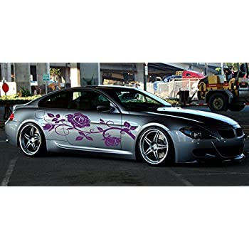 Amazoncom Car Side Vinyl Decal Art Sticker Graphics Floral - Vinyl decals car