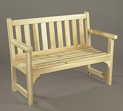 Rustic Natural Cedar 4 Foot Outdoor Patio English Garden Settee Bench (0500506)