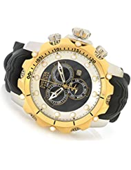 Invicta Mens Venom Quartz Stainless Steel and Silicone Casual Watch, Color:Black (Model: 20406)