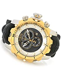 Invicta Men's 'Venom' Quartz Stainless Steel and Silicone Casual Watch, Color:Black (Model: 20406)