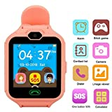 Hangang Gaming Watch Phone Smart Game Watches for Kids,Kid Smartwatch Camera Games Touch Screen Cool Toys Watch Gifts for Girls Boys Children Birthday Gifts (Pink)