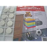 3 Cubes, Wire Organizer, cubique en fil de fer