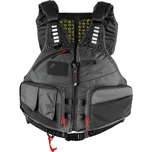 Old Town Lure Angler Men's Life Jacket (Gray, S/M) made in Maine