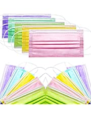 50pcs/Pack Colorful Disposable Masks Breathable Dust Mask Stretchable Elastic Ear Loops Face Masks Cover 50pcs