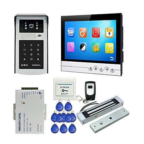 JOINLGO 9 inch Screen Video Intercom Doorphone Doorbell Kit Metal Panel Recording Monitor RFID Code Keypad Unlock Door Camera Electric Magnetic Lock by JOINLGO