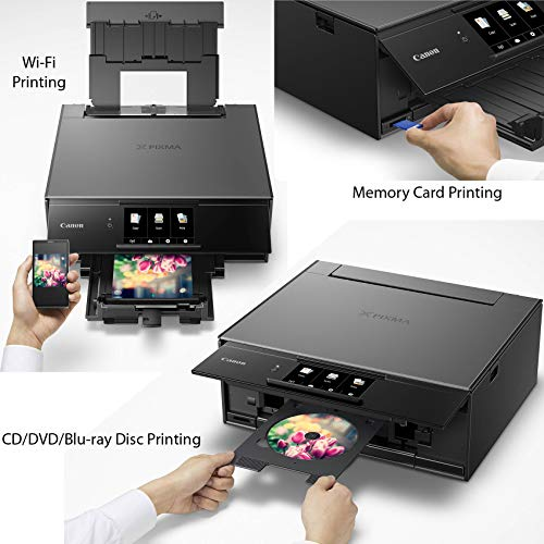 Canon Pixma Inkjet All-in one with Printing, Airprint Google Cloud Ink Tanks + Paper USB Printer Cable + Cloth