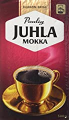Paulig Juhla Mokka is a fine and fully flavored coffee blend produced from best quality coffee - Santos, Colombian and Central American blends. Its quality has passed through the generations. Juhla Mokka makes you feel special on ordinary day...