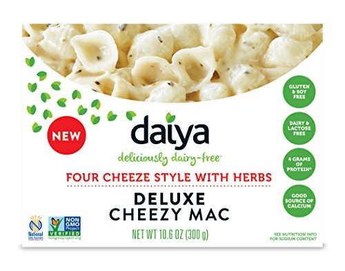 Daiya Cheezy Mac, Four Cheeze Style with Herbs :: Rich & Creamy Plant-Based Mac & Cheese :: Deliciously Dairy Free, Vegan, Gluten Free, Soy Free :: With Gluten Free Noodles, 10.6 Oz. Box (2 Pack) (Diary Free Snacks)