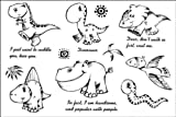Fashion Male and female fake tattoos Watertight small dinosaur English temp tattoos by LuTech