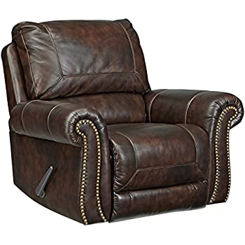 Excellent Signature Design By Ashley Bristan Traditional Style Faux Leather Rocker Recliner Walnut Brown Unemploymentrelief Wooden Chair Designs For Living Room Unemploymentrelieforg