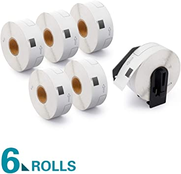 56 DK-1201-R REMOVABLE Replacement Rolls Compatible w// Brother