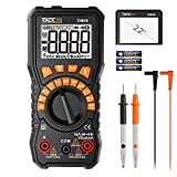 Tacklife Multimeter, 6000 Counts Auto Range TRMS Digital Multimeter with NCV Detection Amp Ohm Volt Multi Meter,Frequency, Resistance, 2.2inch Large LCD | DM09