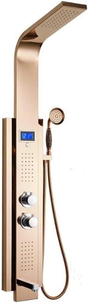 CAILD Ducha 304 mampara de Ducha termostática de Acero Inoxidable ...