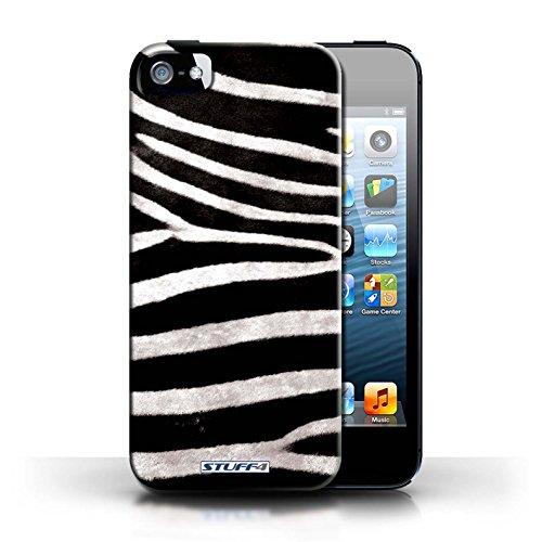 Case für Apple iPhone 5/5S / Schwarz/Weiß Entwurf / Zebra Tier Haut/Print Collection