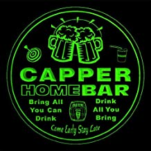 4x ccq06901-g CAPPER Family Name Home Bar Pub Beer Club Gift 3D Engraved Coasters