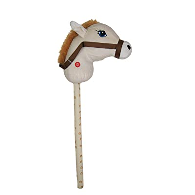 Kandy Toys 26 Inch Hobby Horse With Sound 4 Colours Available (hl63) (cream): Toys & Games