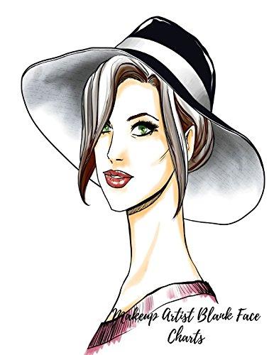Read Online Makeup Artist Blank Face Charts: Eye Make Up Chart Large Notebook pdf