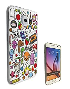 c0349 - Cute Cool fun kids art doodle drawing tape mnster dinosaur rainbow skull balloon candy kawaii Design Samsung Galaxy Note 5 Fashion Trend CASE Gel Rubber Silicone All Edges Protection Case Cover
