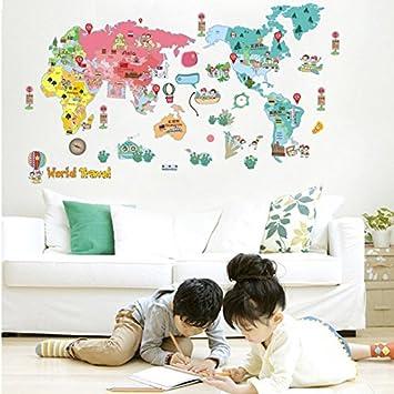 dnven 71w x 32h world travel colorful global kids children