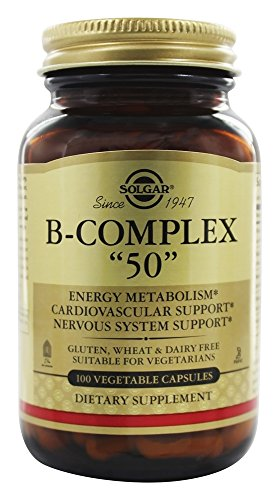 "Solgar B-Complex ""50"", Energy Metabolism, Suitable for Vegan"