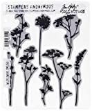Stampers Anonymous CMS253 Wildflowers Tim Holtz Cling Stamps, 7'' by 8.5'', Clear