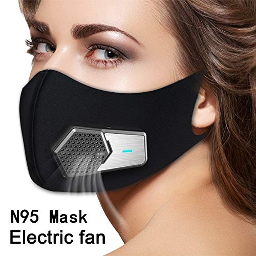 Smart Electric Masks Fresh Air Purifying Mask Anti Pollution Mask N95 for Exhaust Gas, Pollen Allergy, PM2.5, Running, Cycling and Outdoor Activities (Black, mask) by ruishenger (Image #7)