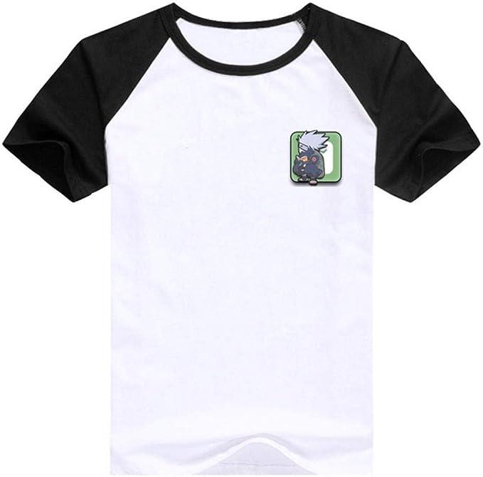 TSHIMEN Camisetas Hombre Grupos Rock Naruto 2019 Nueva Camiseta de Dibujos Animados Anime Caliente Camiseta Moda Tops Manga Corta Hombres Tees Manga Negra: Amazon.es: Ropa y accesorios
