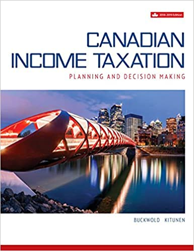 Canadian Income Taxation 2018-2019, 21st Canadian Edition