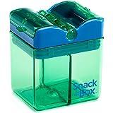 Precidio Design 1001GR Snack in The Box New Little Finger-Friendly Eco-Friendly Reusable Snack Box Container (Green)