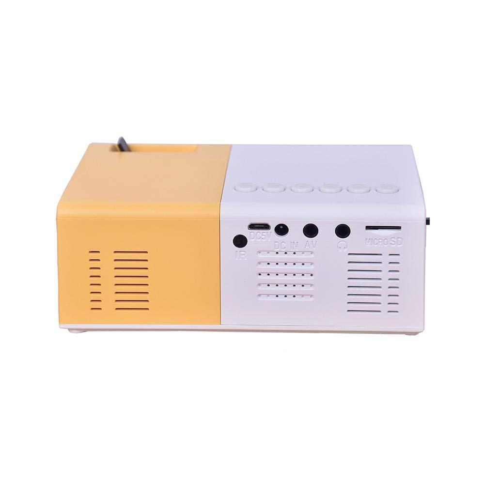 Biback Mini proiettore portatile, proiettore video multimediale a LED 2500 Lumens per smartphone PC portatile, HDMI, VGA, SD, AV USB, Home Cinema Entertainment, Cinema all'aperto e giochi Cinema all' aperto e giochi
