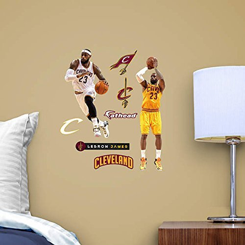 NBA Officially Licensed Cleveland Cavaliers Lebron James Home and Away Teammate Fathead Set