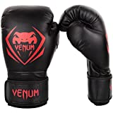 Venum Contender Boxing Gloves - Black/Red - 16-Ounce