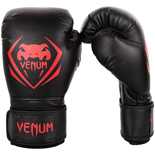 Venum Contender Boxing Gloves - Black/Red - 16-Ounce ()