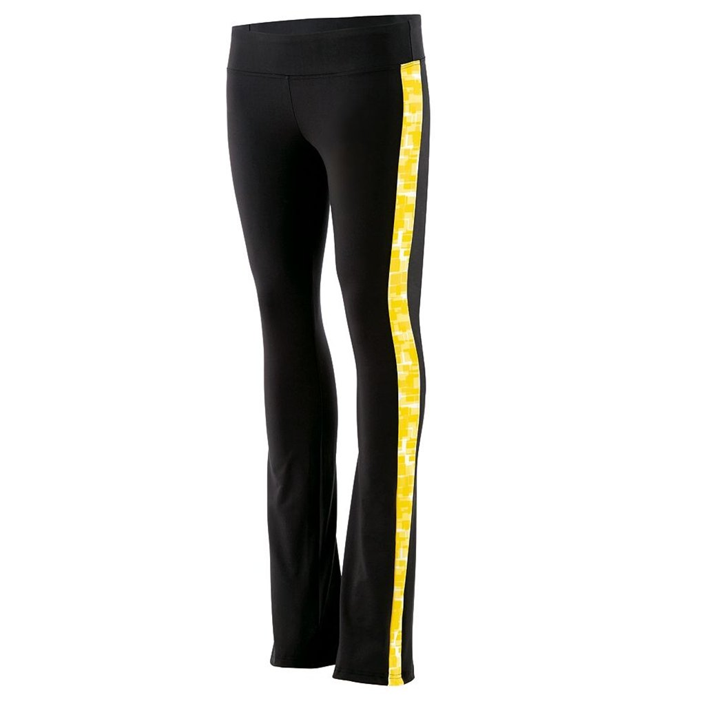 Holloway Juniors Superstar Fitted Pants (X-Large, Black/Bright Yellow Print) by Holloway