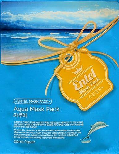 Entel Aqua Máscara Facial Hoja Pack Corea belleza cara Natural ...