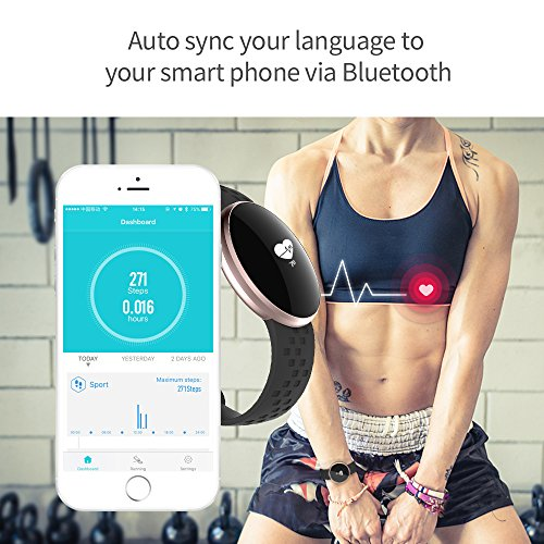 SKMEI Women's Smart Watch for Apple Android Devices with Bluetooth Fitness Sleep Monitoring Waterproof Auto Wake Screen