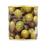 Garlic Stuffed Olives Waitrose 200g - Pack of 6