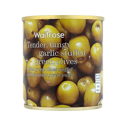 Garlic Stuffed Olives Waitrose 200g - Pack of 6 by WAITROSE
