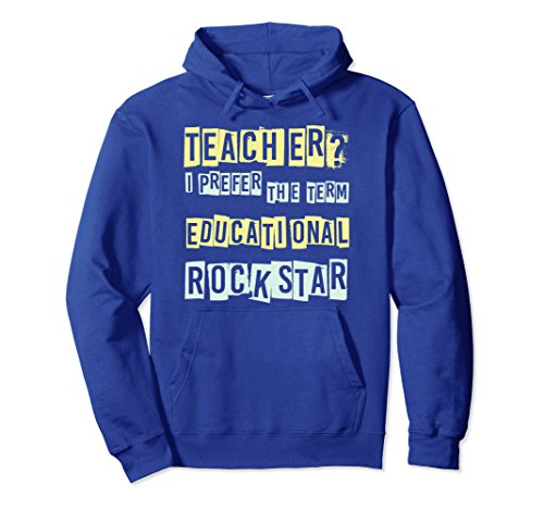 Unisex Teacher Educational Rock star Best Teachers Gift Hoodie XL: Royal (80 Rock Star Costumes Ideas)