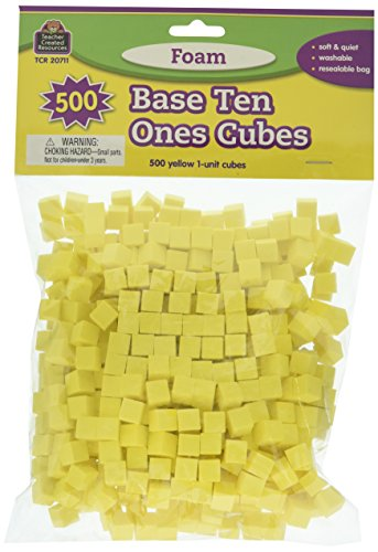 Teacher Created Resources Foam Base Ten, Ones Cubes (20711)