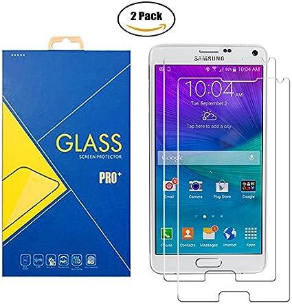 2 Pack] Protector Cristal Vidrio Templado Samsung Galaxy Note 4 SM-N910 / N910F / N910H / N910C / N9100 / 910 / 910F / 910H / 910C / 9100 – Pantalla Antigolpes y Resistente al Rayado: Amazon.es: Electrónica