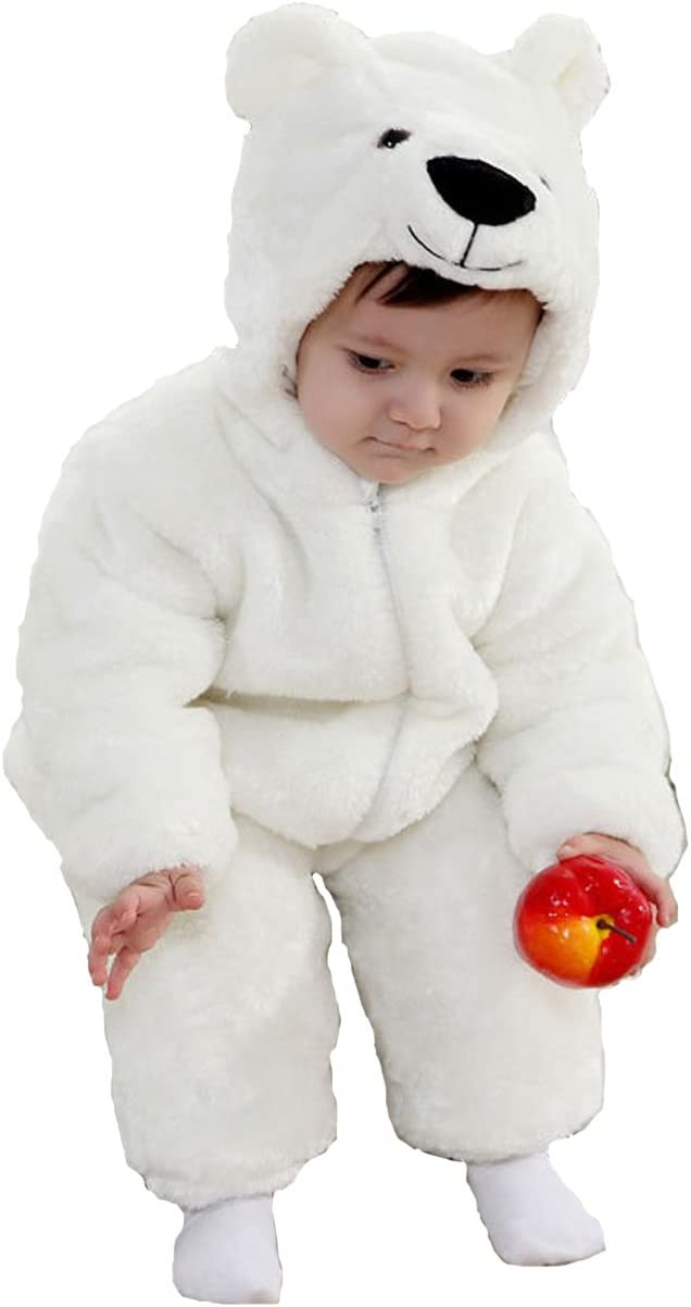 Oso Polar animales bebé disfraz 3 – 24 M manga larga de franela ...