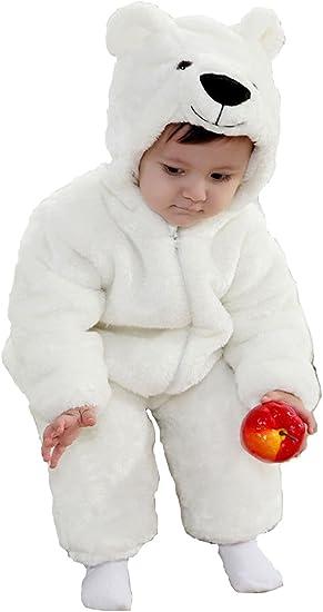 Disfraz de Oso Polar de Manga Larga de 3 a 24 m para bebé: Amazon ...