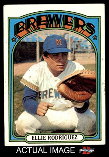 1972 Topps # 421 Ellie Rodriguez Milwaukee Brewers (Baseball Card) Dean's Cards 4 - VG/EX Brewers Ellie Rodriguez Brewers