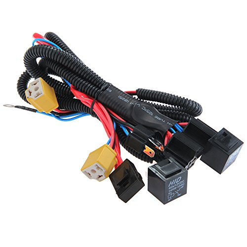 Zimo H4/9003 12v Ceramic Fused Socket Relay Wiring Harness Headlight Bulb Booster 35w from zimo