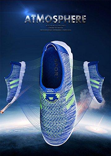 Eagsouni Casual Damen Herren Sport Schuhe Turnschuhe Frühlings Sommer Outdoor Sports Sandalen Knit Mesh Atmungsaktive Sneaker Fitnessschuhe Unisex Couple 35-44 Blau
